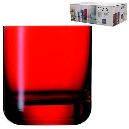 Набор стаканов для виски Spots (285 мл), красные, 6 шт.