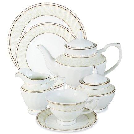 Чайный сервиз Адель на 12 персон, 40 пр. Emerald E-114-D49G_40-AL