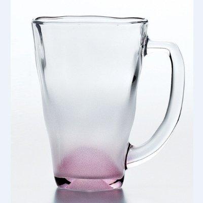 Кружка (390 мл), с матовым розовым дномЧашки и Кружки<br><br>