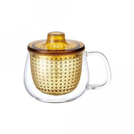 Кружка-чайник Unimug (0.35 л), 7.8х9 см, янтарный