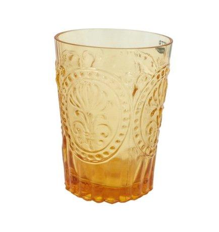 Стакан (160 мл), янтарныйСтаканы<br>Своей красотой стеклянные стаканы обязаны мастерству португальских стеклодувов компании Vista Allegre. Фантастические цветы, стеклянные волны, гладкость, прозрачность цвета - все это позволяет стаканам Vista Allegre быть настоящим украшением стола. Какой бы выбор вы ни сделали, собрав стаканы одного цвета или подготовив для гостей яркую палитру, великолепное стекло станет прекрасным оформлением для любого застолья.<br><br>Серия: Meditterranian Gorgeous Glass