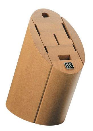Подставка для ножей деревянная овальная