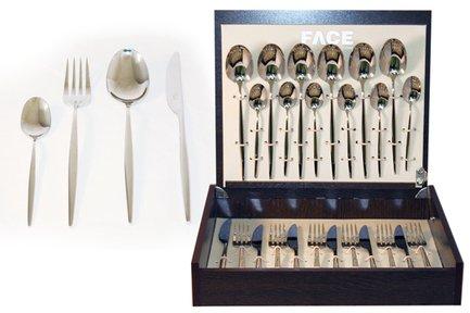 Набор столовых приборов на 6 персон Cosmos, 24 пр., в деревянной коробке