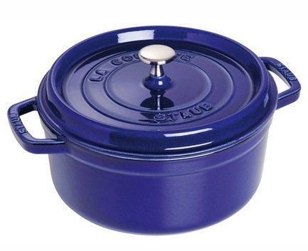 Кокот круглый, 22 см (2.6 л), фиолетовый Staub 1102291