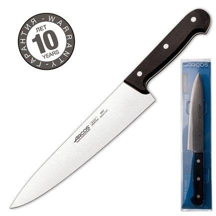 Нож поварской Universal, 25 смПоварские ножи<br>Любимый нож как начинающих, так и профессиональных поваров. Универсален в использовании и прекрасно сбалансирован. Может применяться для чистки, шинковки, нарезки, перерубания тонких косточек и прочих работ. Настоящая рабочая лошадка среди ножей.<br><br>Серия: Universal