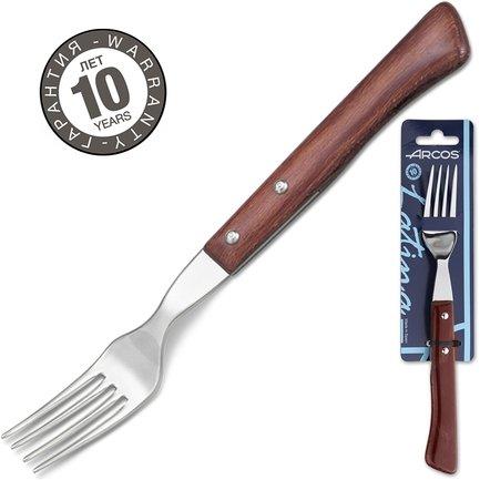 Вилка столовая для стейка, 9 смВилки для жаркого<br>Для разрезания нежного и сочного только что приготовленного стейка, помимо стейкового ножа, нужна и эта небольшая вилка с деревянной ручкой. С ее помощью вы аккуратно придержите мясо, нарезая его острым ножом на удобные для вас кусочки.<br><br>Серия: Steak Knives
