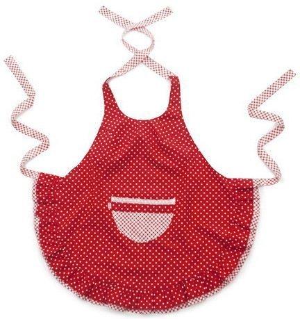 Фартук Polka Dot Red, ярко-красныйФартуки<br>Серия фартуков Polka Dot - это сочетание игривого горошка и кокетливого фасона с двойной оборкой по подолу. Кармашек отделан хлопковой ажурной тесьмой в тон фартуку. Модели представлены в двух цветах - ярко красный и кофейный. Фартуки PolkaDot - прекрасный подарок маме, бабушке, сестре или&amp;hellip; себе!     Характеристики:   Состав: хлопок 100 %  Размеры: ширина - 33 см; длина - 67 см<br>