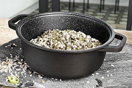 Литая кастрюля HardStone Granit, 20 см Risoli psd0096GR/20HS0