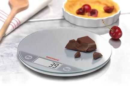 Весы электронные кухоннные Flip silver, 20 см, серебро