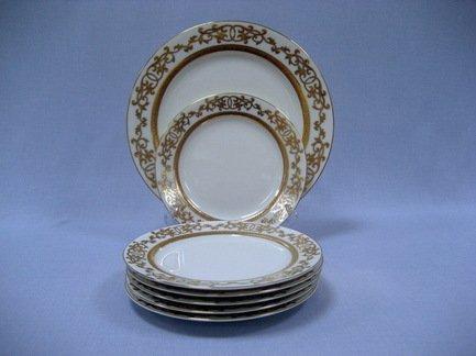 Набор закусочных тарелок с блюдом Марсель на 6 персон, 7 пр.