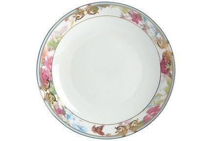 Набор тарелок суповых Цветущий сад, 20 см, 6 шт.Тарелки и Блюдца<br>Глубокая фарфоровая тарелка с бортом незаменима при подаче к праздничному столу первых блюд. В этих суповых тарелках подаются как горячие, так и холодные первые блюда.<br><br>Серия: Цветущий сад