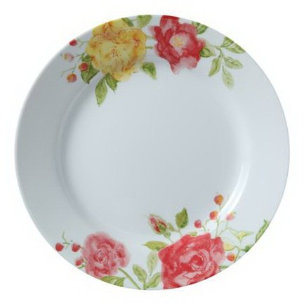 Тарелка закусочная Emma Jane, 22 смТарелки и Блюдца<br>Красивая тарелка такого размера незаменима в сервировке любого стола, как особо праздничного, так и для ежедневных семейных трапез. На ней подаются горячие и холодные закуски из мяса, рыбы, овощей.<br><br>Серия: Emma Jane