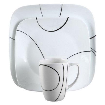 Набор посуды Simple Lines, 16 пр.Столовые сервизы<br>Красивый набор столовой посуды пригодится в любом доме. Данный обеденный сервиз рассчитан на 4 персоны и отлично подойдет для сервировки ежедневной семейной трапезы или приема нескольких гостей.<br><br>Серия: Simple Lines<br>Состав: Тарелка обеденная Simple Lines, 26 см- 4 шт.Тарелка закусочная Simple Lines, 22 см- 4 шт.Тарелка суповая Simple Lines (0.65 л) - 4 шт.Кружка Simple Lines (0.35 л) - 4 шт.