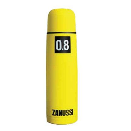 Термос с металлической колбой Cervinia (0.8 л), желтыйТермосы<br>Стильный термос, в котором ваш напиток останется горячим на протяжении 12 часов. Благодаря прорезиненному покрытию, удобно лежит в руке, не выскальзывая. Крышка является также удобной кружкой.<br><br>Серия: Cervinia