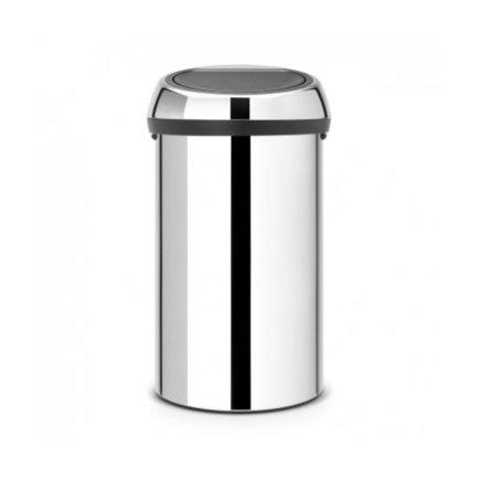 Мусорный бак Touch Bin (60 л), 40х71.5 см, хром
