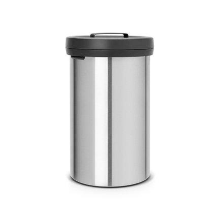 Мусорный бак Big Bin (60 л), 40х65.5 см, нержавеющая сталь, черный матовый