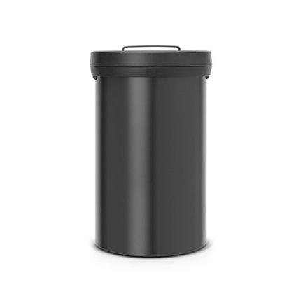 Мусорный бак Big Bin (60 л) 40х65.5 см, нержавеющая сталь, черныйМусорные баки<br>Этот бак выполнен в элегантном дизайне из нержавеющей стали высокой прочности. Благодаря хорошей вместимости, его можно поставить не только на домашней кухне, но и кафе, ресторане и прочих заведениях. Бак оснащен удобной ручкой для перемещения с места на место.<br><br>Серия: Big Bin