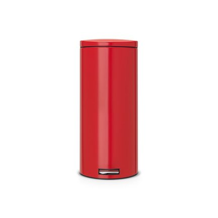 Мусорный бак с педалью Silent (30 л), 66х39х29.5, нержавеющая сталь, красный