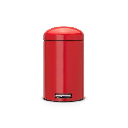 Ведро для мусора Retro (12 л), красноеМусорные ведра<br>Стильное ведро со специальным педальным механизмом, который обеспечивает бесшумное открывание/закрывание крышки. Ведро изготавливается из прочной нержавеющей стали, поэтому отлично подходит для ванной или кухни.<br>