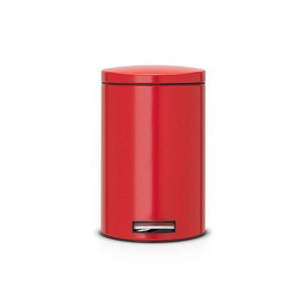 Ведро для мусора с педалью (12 л) Silent, 40х34х25, нержавеющая сталь, красныйМусорные ведра<br>Стильное ведро со специальным педальным механизмом, который обеспечивает бесшумное открывание/закрывание крышки. Ведро изготавливается из прочной нержавеющей стали, поэтому отлично подходит для ванной или кухни.<br><br>Серия: Silent