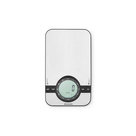 Цифровые кухонные весы, 12.5х21 см, матовая сталь