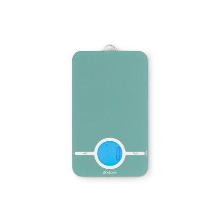 Цифровые кухонные весы, 15.5х26.5 см, мятный зеленый