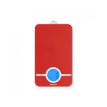 Цифровые кухонные весы, 15.5х26.5 см, красные