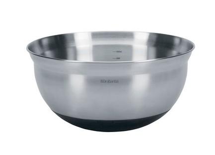 Салатник (3 л)Салатницы, Супницы<br>Красивый салатник из нержавеющей стали имеет нескользящее основание, что придает ему не только устойчивость, но и защищает поверхность стола от царапин. Благодаря мерной шкале на внутренних стенках, салатницу можно использовать как чашу для смешивания различных ингредиентов, в том числе и горячих.<br>