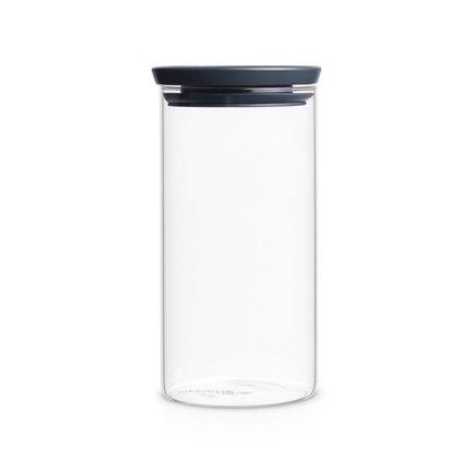 Модульная стеклянная банка (1.1 л)Банки для сыпучих<br>Стеклянная банка с герметичной крышкой станет отличным приобретением для каждой кухни. В ней идеально хранить всевозможные сыпучие продукты. Благодаря модульной конструкции, в целях экономии пространства несколько таких банок можно поставить друг на друга.<br>