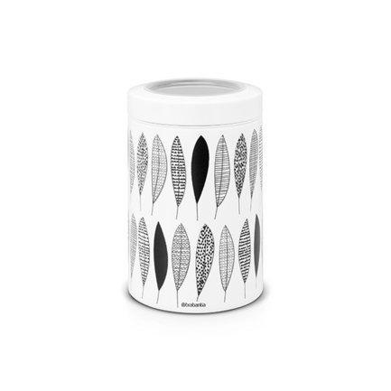 Контейнер с прозрачной крышкой (1.4 л) LEРаспродажа<br>В этом стильном стальном контейнере можно хранить любые сыпучие продукты, а также сухофрукты, орехи, печенье. Контейнер герметично закрывается прозрачной крышкой, которая защищает содержимое от влаги и посторонних запахов.<br>