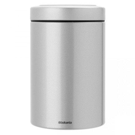 Контейнер с прозрачной крышкой (1.4 л)Банки для сыпучих<br>В этом стильном стальном контейнере можно хранить любые сыпучие продукты, а также сухофрукты, орехи, печенье. Контейнер герметично закрывается прозрачной крышкой, которая защищает содержимое от влаги и посторонних запахов.<br>