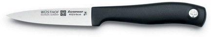 Нож овощной Silverpoint, 8 смНожи для овощей<br>Представляет собой идеальный выбор для нарезания овощей и фруктов. С его помощью легко снимается кожура. Захват ножа большим и указательным пальцами даёт возможность контролирования глубины надреза. Конструкция лезвия позволяет защититься от порезов.<br><br>Серия: Silverpoint