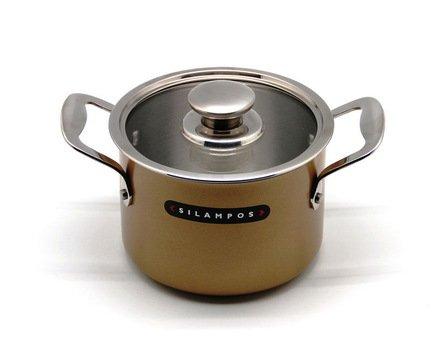 Глубокая кастрюля Онион Голд (4 л), 20 смКастрюли<br>Глубокая кастрюля – незаменимый помощник в приготовлении различных блюд из крупы, варки супов и бульонов, тушения овощей. Она изготовлена из качественной стали, поэтому отличается особой прочностью и долговечностью.<br><br>Серия: Онион Голд