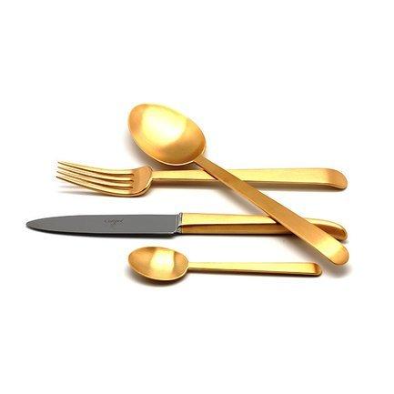 Набор столовых приборов Ergo Gold, матовые, 24 пр.