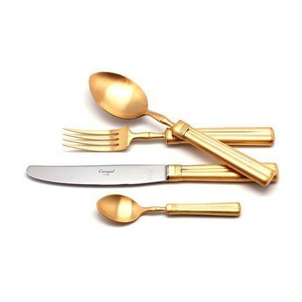 Набор столовых приборов Fontainebleau Gold, матовые, 24 пр.