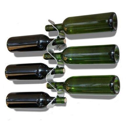 Держатель для бутылок Flow, 55х8 смБар и стекло<br>Оригинальный держательFlow для восьми бутылок – удобная и практичная вещь для любой кухне. Стальной аксессуар не занимает много места, он прочно крепится в удобном месте на стене. Настенный держатель послужит красивым дополнением к интерьеру помещения.<br>