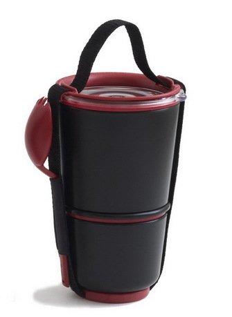 Ланч-бокс Lunch Pot, черный, 11х19 см
