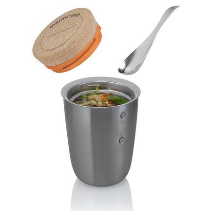 Ланч-бокс Thermo-pot для горячего (0.5 л), хром, 12.5х17 см