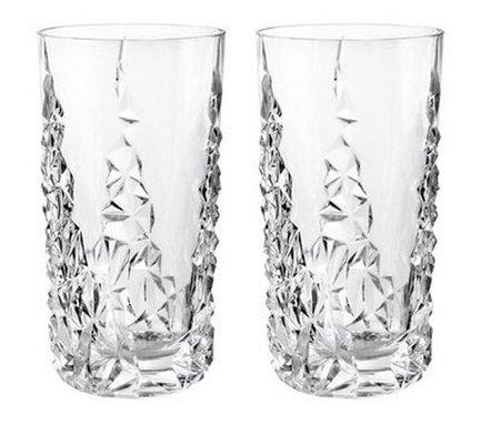 Набор хрустальных стаканов Sculpture (420 мл), 2 шт.Стаканы<br>Набор этих высоких стаканов будет уместно смотреться в любом баре. В них коктейли или разнообразные безалкогольные напитки со льдом выглядят особенно аппетитно и эффектно.<br><br>Серия: Sixties lines