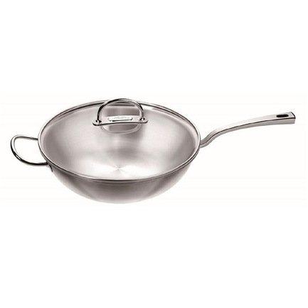 Вок Zwilling Prime, 30 смВоки (Азиатские сковороды)<br>Вок – удобная посуда для приготовления различных блюд азиатской кухни. Мясо, рыба или овощи, порезанные на мелкие кусочки, быстро обжариваются в этой сковороде с круглым дном небольшого диаметра и толстым внешним основанием. Продукты готовятся намного быстрее, чем в традиционной сковороде, сохраняя при этом больше полезных и питательных веществ.<br><br>Серия: Zwilling Prime