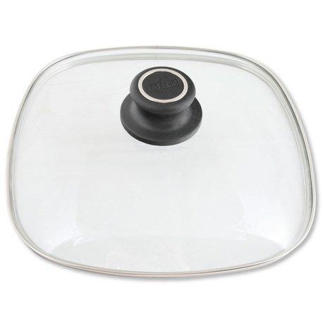 Крышка стеклянная квадратная с жаропрочной ручкой, 26х26 см BAF PSD800173262