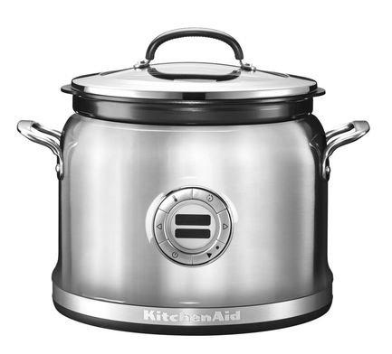 Мультиварка KitchenAid (3.78 л), 14 режимов приготовления, стальная