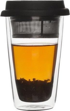 """Чайная чашка """"Возьми с собой"""" (300 мл), 15х8 см, прозрачная от Superposuda"""