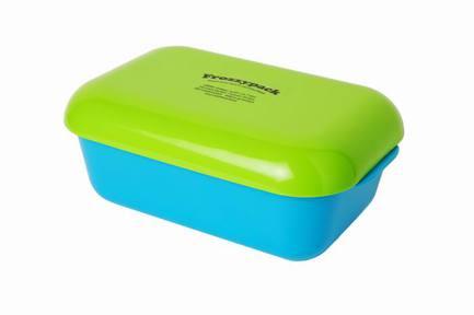 Контейнер Фроззипак с охлаждающим элементом Summer Edt (0.9 л), 19.5х12 см, салатово-голубойКонтейнеры<br><br><br>Серия: Frozzypack