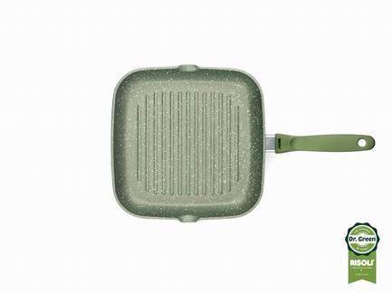 Литая сковорода-гриль, 26х26 смСковороды-Гриль<br><br><br>Серия: Dr.Green