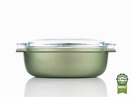 Литая овальная утятница со стеклянной крышкой, 36х24 смЖаровни<br><br><br>Серия: Dr.Green