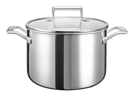 Кастрюля с крышкой (7.57 л), 24 см, 3-х слойнаяКастрюли<br><br><br>Серия: Cookware