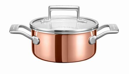 Медная кастрюля для соуса (1.42 л), 16 см, 3-х слойнаяПосуда<br><br><br>Серия: Cookware