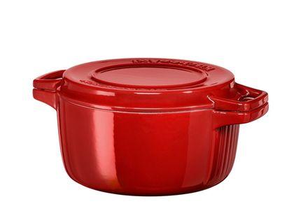 Чугунная кастрюля (5.65 л), 28 см, красная KitchenAid KCPI60CRER