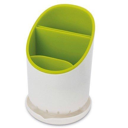 Сушилка для столовых приборов со сливом Dock, 12х19х12.7 см, зелёнаяКухонные аксессуары<br><br><br>Серия: Dock